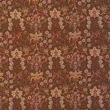 Brown/Burgundy/Red Botanical Drapery and Upholstery Fabric by Lee Jofa