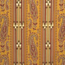 Gold Paisley Drapery and Upholstery Fabric by Lee Jofa