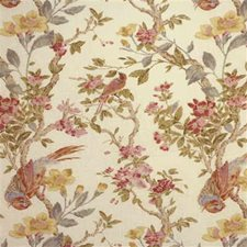 Cream Botanical Drapery and Upholstery Fabric by Lee Jofa