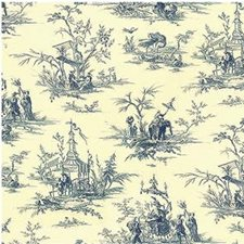 Indigo Toile Drapery and Upholstery Fabric by Lee Jofa