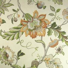 Hollyhock Drapery and Upholstery Fabric by B. Berger