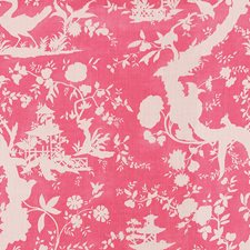 Pink Toile Drapery and Upholstery Fabric by Lee Jofa