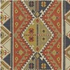 Clay/Indigo Ethnic Drapery and Upholstery Fabric by Lee Jofa