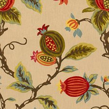 Pumpkin Botanical Drapery and Upholstery Fabric by Lee Jofa