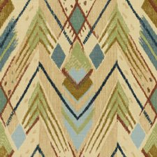 Blue/Green Ikat Drapery and Upholstery Fabric by Lee Jofa