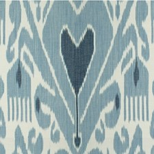 Sky/Indigo Ethnic Drapery and Upholstery Fabric by Lee Jofa