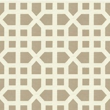 Beige Lattice Drapery and Upholstery Fabric by Lee Jofa