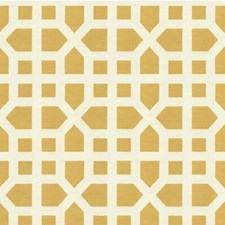 Yellow Lattice Drapery and Upholstery Fabric by Lee Jofa