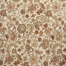 Clay/Sage Botanical Drapery and Upholstery Fabric by Lee Jofa