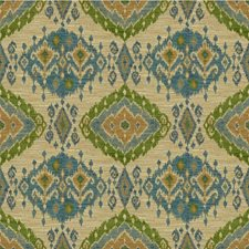 Teal/Green Ethnic Drapery and Upholstery Fabric by Lee Jofa