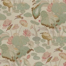 Shell/Jade Animal Drapery and Upholstery Fabric by Lee Jofa