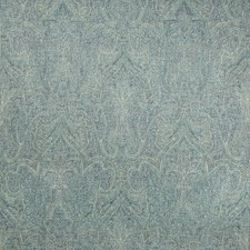 Teal/Navy Paisley Drapery and Upholstery Fabric by Lee Jofa