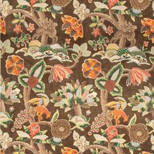 Tobacco Animal Drapery and Upholstery Fabric by Lee Jofa