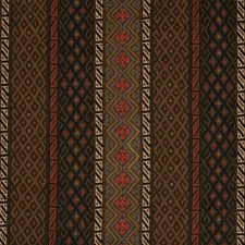 Cocoa/Red Ethnic Drapery and Upholstery Fabric by Lee Jofa