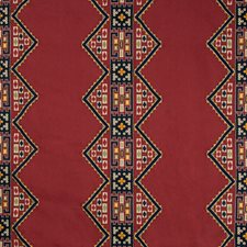 Red/Multi Drapery and Upholstery Fabric by Lee Jofa