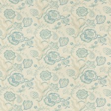 Aqua/Mist Botanical Drapery and Upholstery Fabric by Lee Jofa