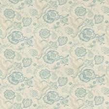 Aqua/Mist Botanical Drapery and Upholstery Fabric by Lee Jofa