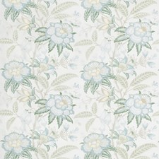 Sea Mist Botanical Drapery and Upholstery Fabric by Lee Jofa