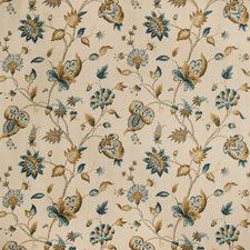 Peacock Botanical Drapery and Upholstery Fabric by Lee Jofa