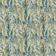 Peacock/Gold Modern Drapery and Upholstery Fabric by Lee Jofa
