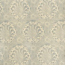 Blue Damask Drapery and Upholstery Fabric by Lee Jofa