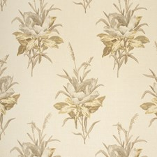 Grey/Ecru Botanical Drapery and Upholstery Fabric by Lee Jofa