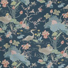 Sapphire Botanical Drapery and Upholstery Fabric by Lee Jofa