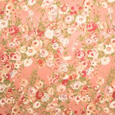 Coral Garden Floral Drapery and Upholstery Fabric by Fabricut
