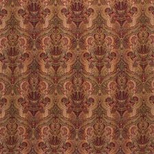 Green/Burgundy/Red Modern Drapery and Upholstery Fabric by Kravet