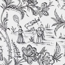 Black/White Animal Drapery and Upholstery Fabric by Duralee