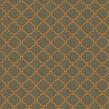 Tangerine Geometric Drapery and Upholstery Fabric by Fabricut