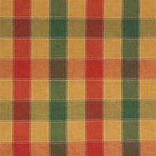 Green/Yellow/Rust Plaid Drapery and Upholstery Fabric by Kravet