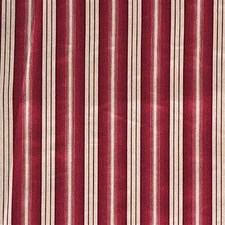 White/Burgundy/Red Stripes Drapery and Upholstery Fabric by Kravet