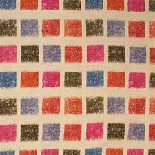 Nat/Pk Geometric Drapery and Upholstery Fabric by Groundworks