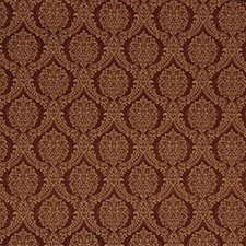 Burgundy/Red/Yellow Damask Drapery and Upholstery Fabric by Kravet