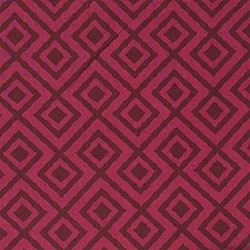 Wine/Ma Geometric Drapery and Upholstery Fabric by Groundworks