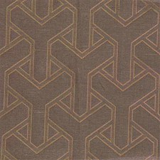 Bronze Geometric Drapery and Upholstery Fabric by Lee Jofa