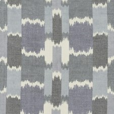 Batik Blue Drapery and Upholstery Fabric by Robert Allen/Duralee