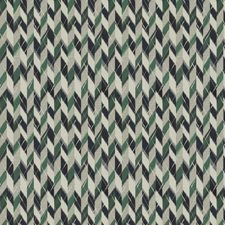 Blue Green Herringbone Drapery and Upholstery Fabric by S. Harris