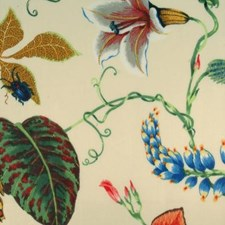 Summer Floral Large Drapery and Upholstery Fabric by Duralee
