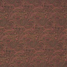 Black/Burgundy/Red Paisley Drapery and Upholstery Fabric by Kravet