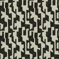 Onyx Geometric Drapery and Upholstery Fabric by S. Harris