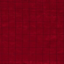 Burgundy/Red Check Drapery and Upholstery Fabric by Kravet