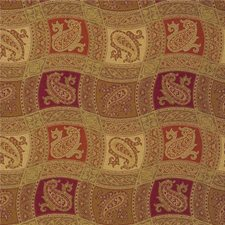 Amber Gold Paisley Drapery and Upholstery Fabric by Kravet