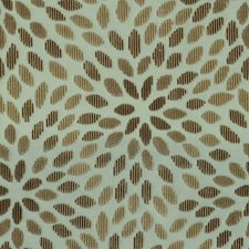 Aqua/Cocoa Drapery and Upholstery Fabric by Schumacher