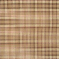 Yellow/Brown/Burgundy Plaid Drapery and Upholstery Fabric by Kravet