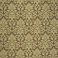 Sienna Brown Damask Drapery and Upholstery Fabric by Kravet