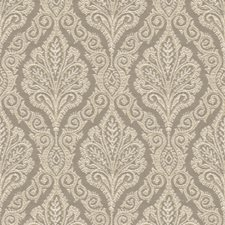 Grey/Beige Medallion Drapery and Upholstery Fabric by Kravet