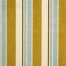 Olive Blue Stripes Drapery and Upholstery Fabric by Kravet