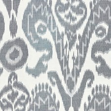 Indigo Warp Print Drapery and Upholstery Fabric by Scalamandre
